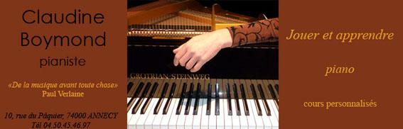 Claudine Boymond, pianiste